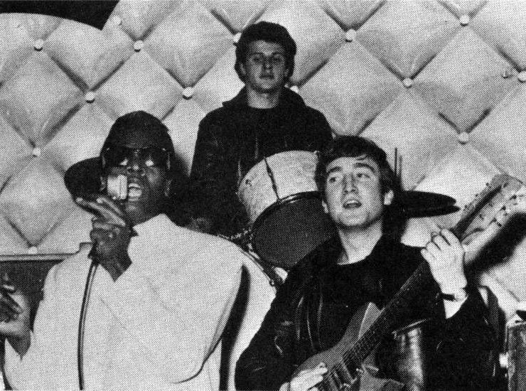 The Beatles at the Tower Ballroom with Davey Jones, December 8th 1961.