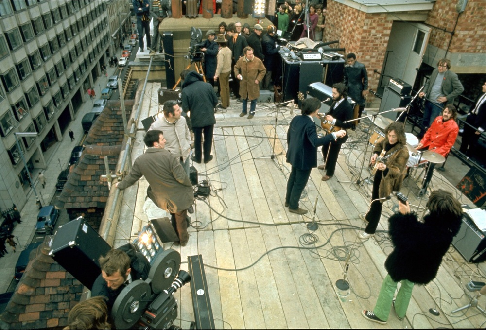 The Beatles on the rooftop of Apple Headquarters, 3 Saville Row, January 30th 1969.