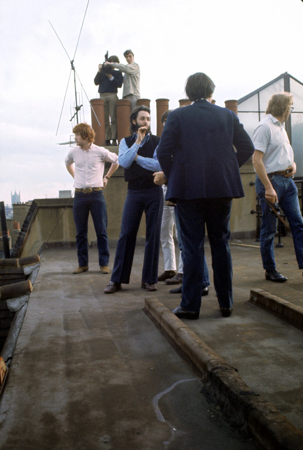 Paul McCartney on the rooftop of Apple Headquarters, 3 Saville Row, January 30th 1969.