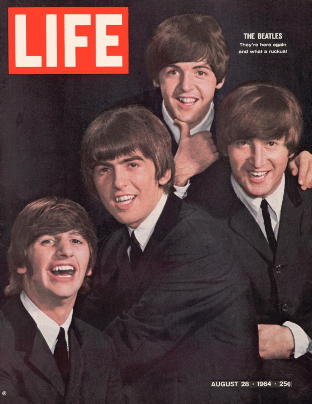 The Beatles on the cover of LIFE Magazine, August 28th 1964.