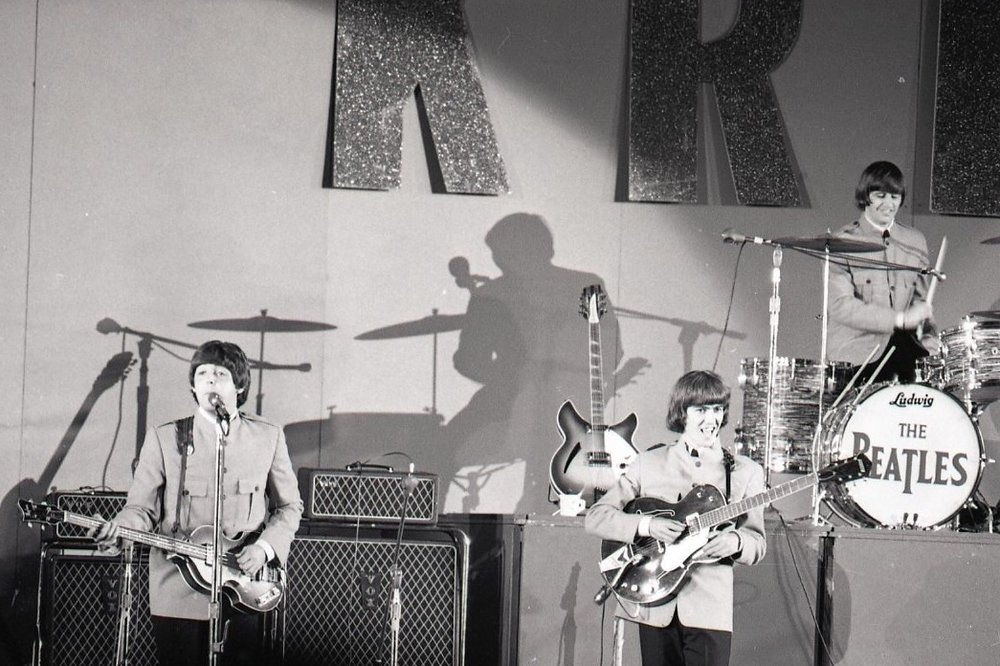 The Beatles at the Hollywood Bowl, August 29th, 1965.