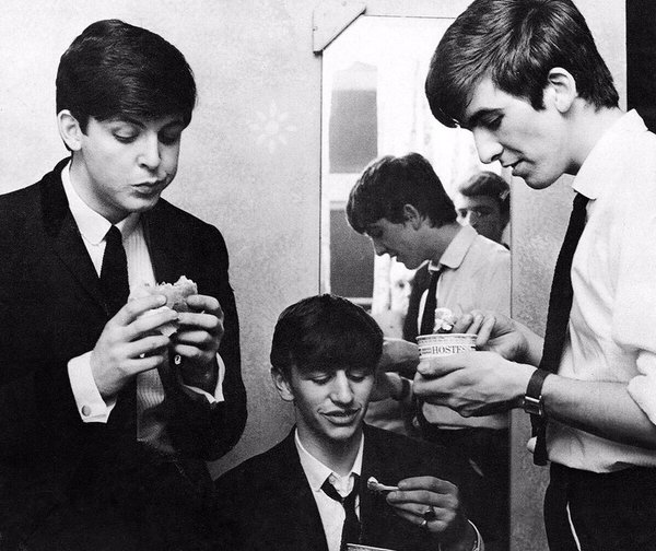 Paul, Ringo and George circa 1963.