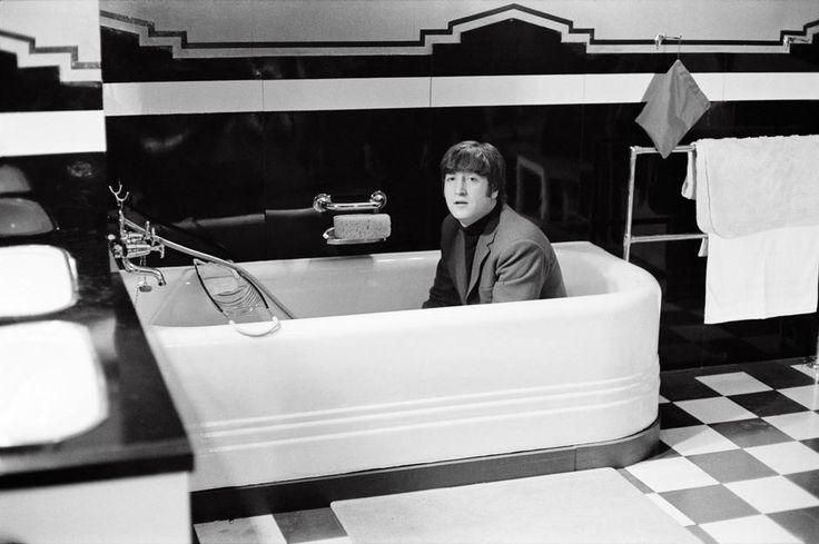 John Lennon filming A Hard Day's Night, 1964.
