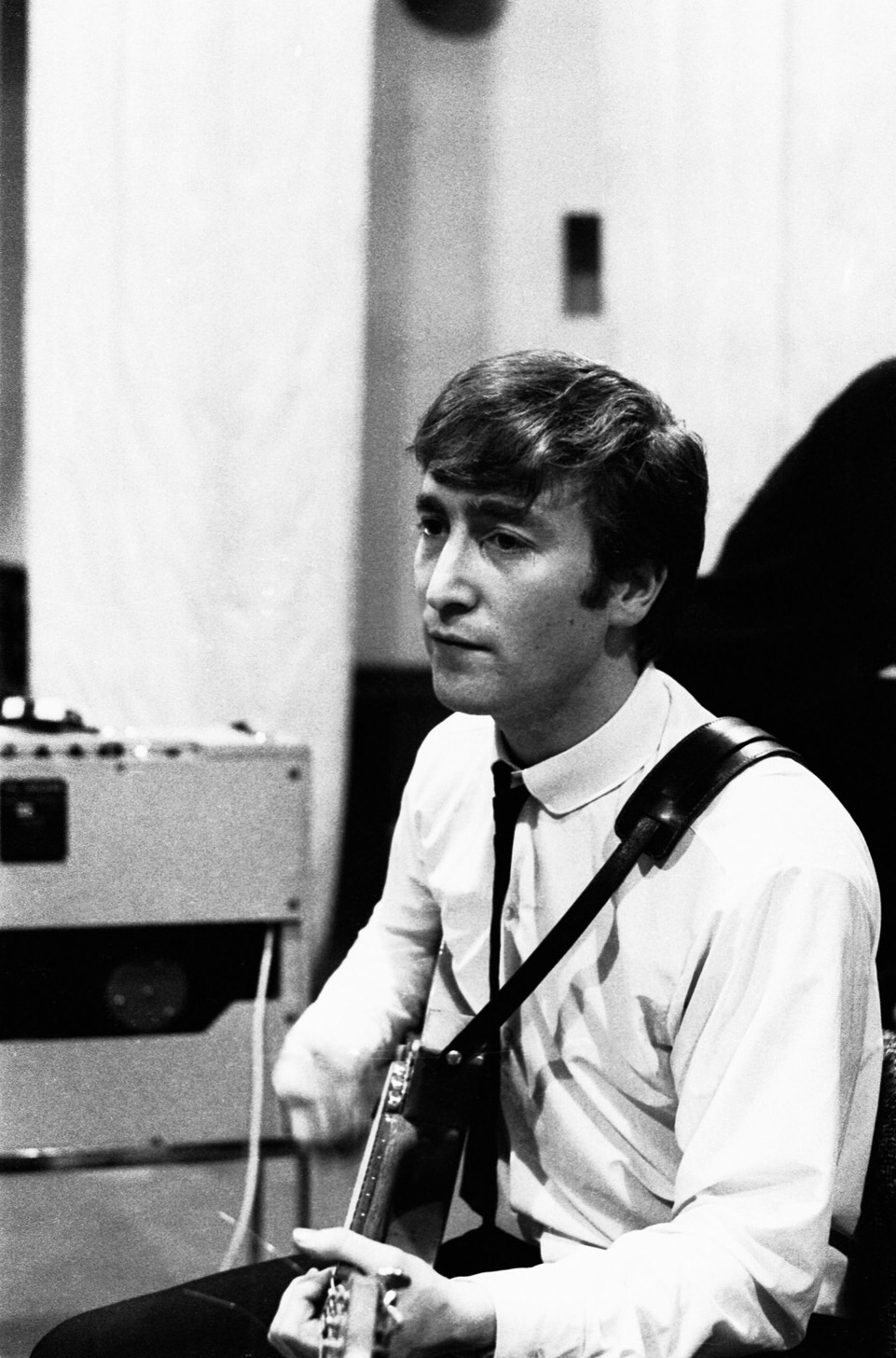 John Lennon at an early Abbey Road recording session, September 4th, 1962.
