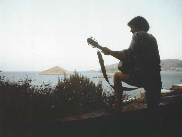 George Harrison in Porto Rafti Greece, 1979.
