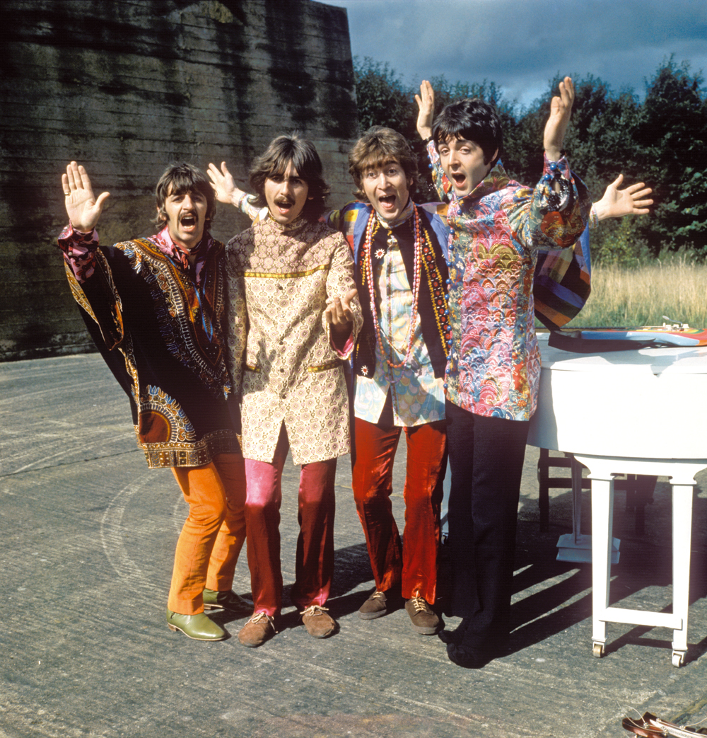 The Beatles filming I Am the Walrus, 1967.