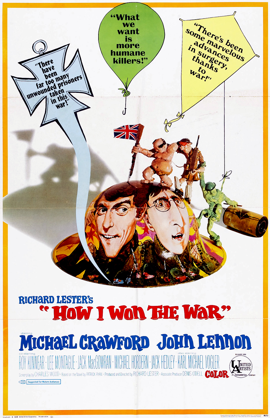 Poster for How I Won the War, 1967.