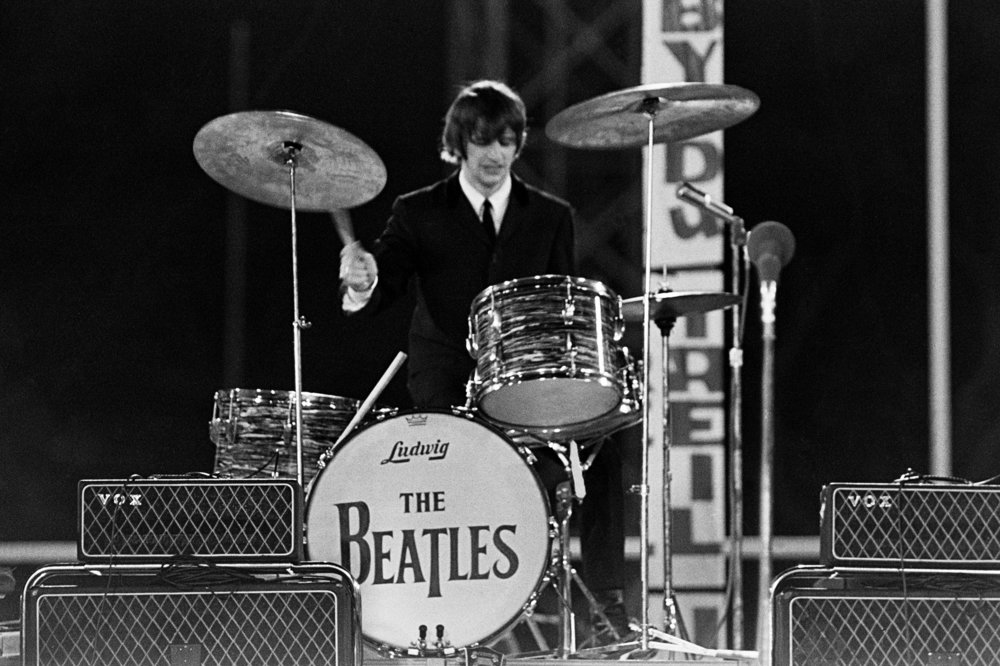 Ringo Starr at City Park Stadium, New orleans, September 16th 1964.