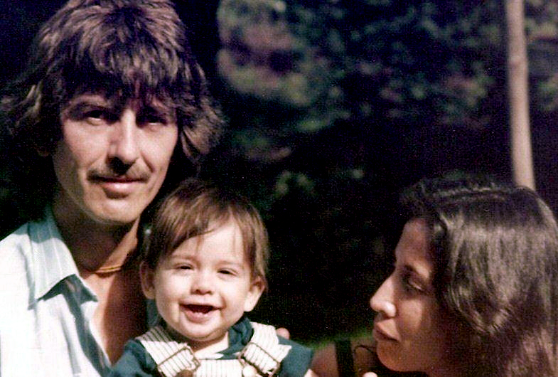 George, Dhani and Olivia circa 1979.