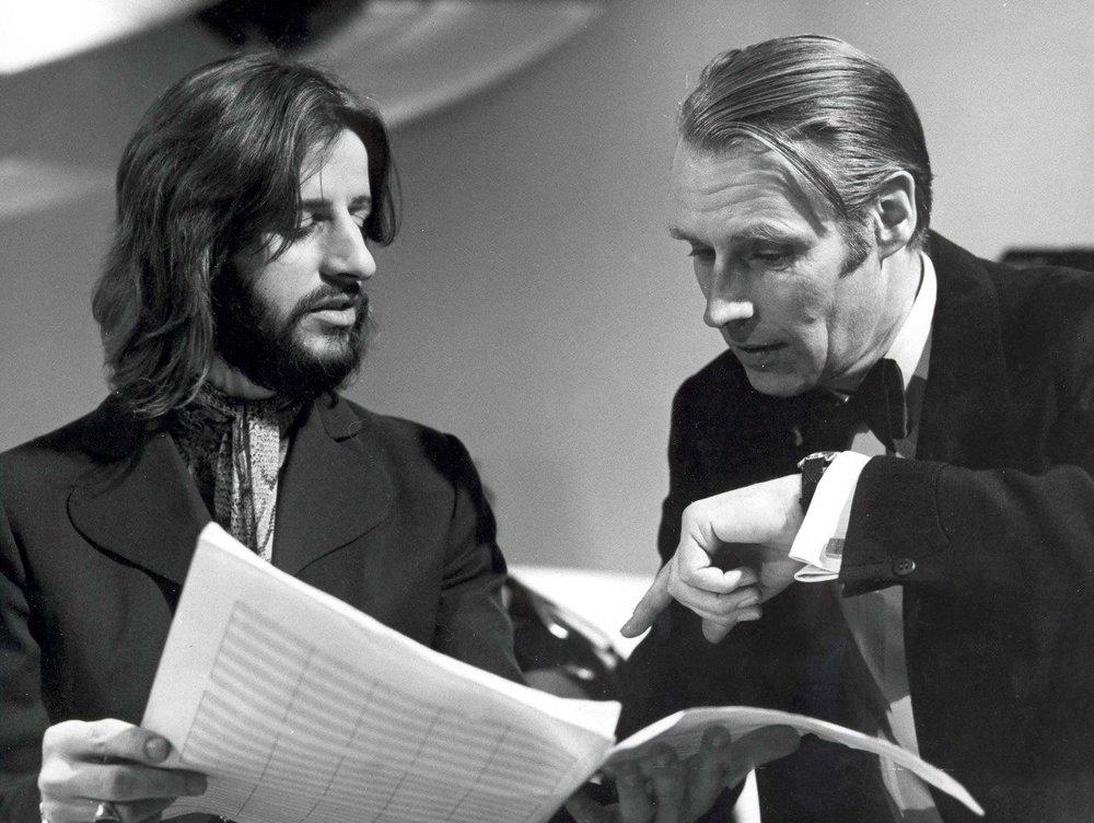 Ringo Starr and George Martin circa 1970.