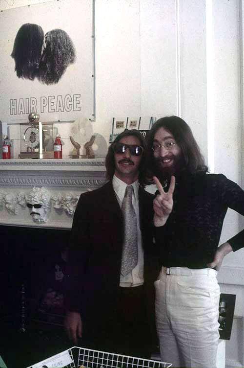 Ringo Starr and John Lennon, 1969.