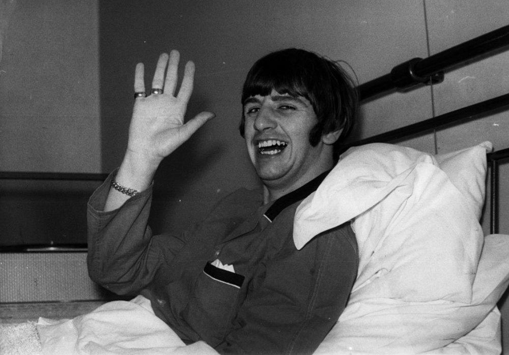 Ringo Starr at University College Hospital London, December 1964.