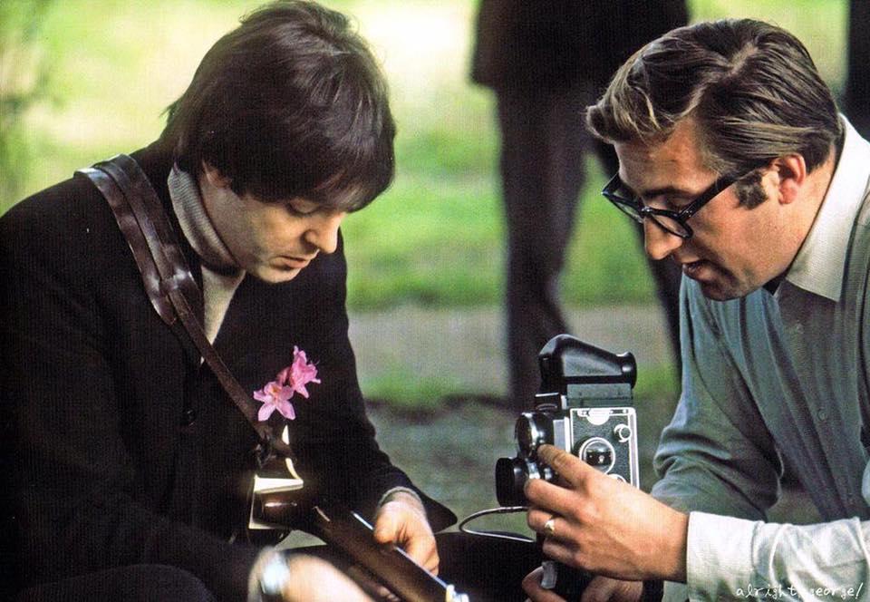 Paul McCartney and Mal Evans, 1966.