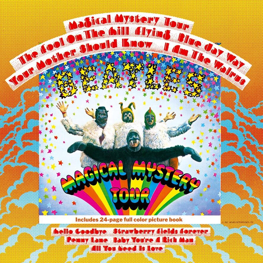 Magical Mystery Tour album cover, 1967.