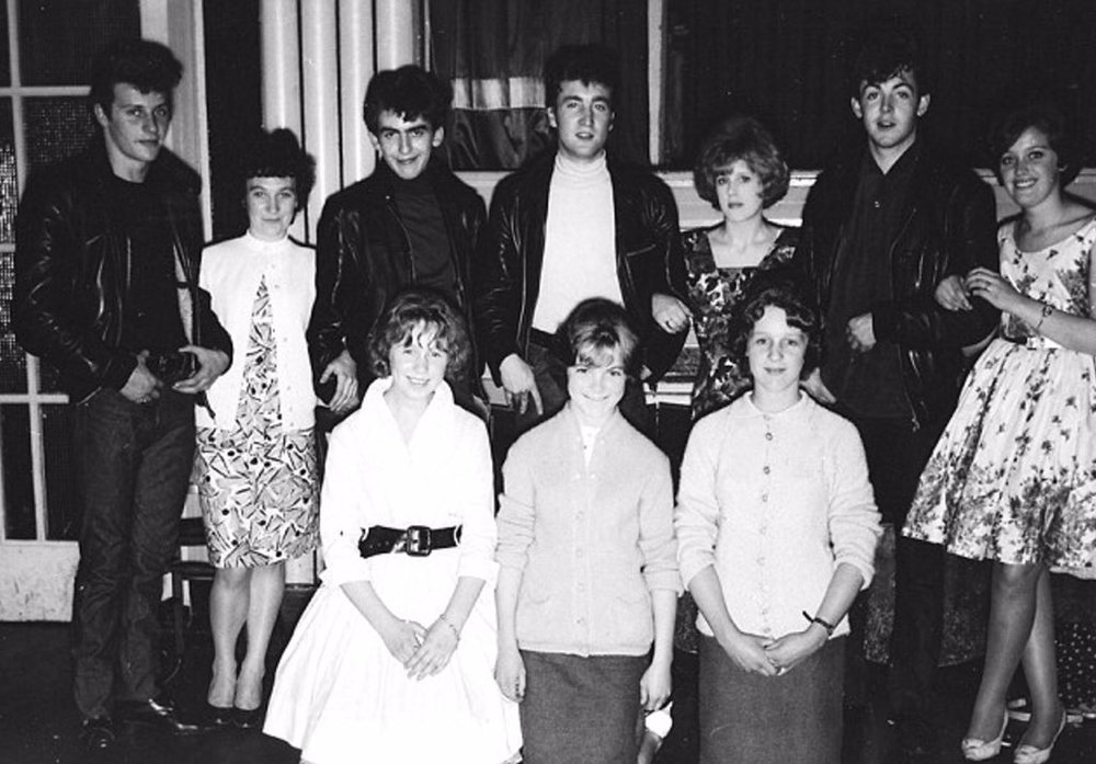 The Beatles with fans, 1961.