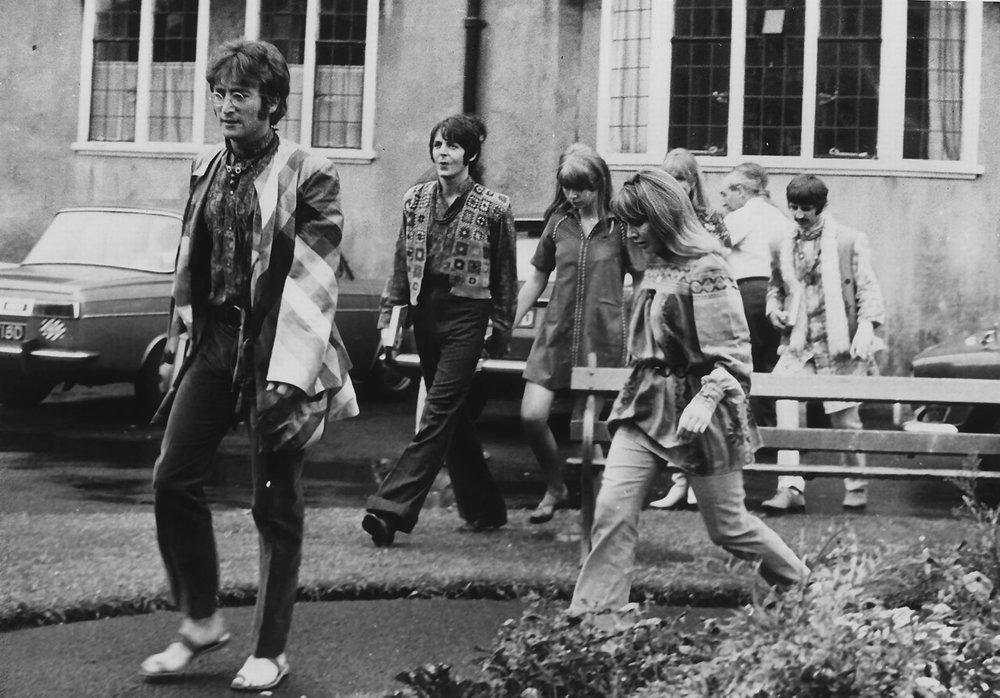 The Beatles in Bangor, Wales, August 1967.