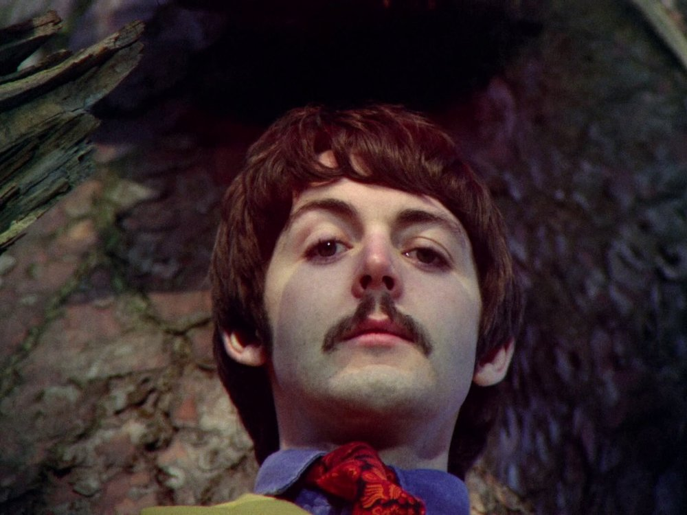 Paul McCartney filming Strawberry Fields Forever, January 30th 1967.