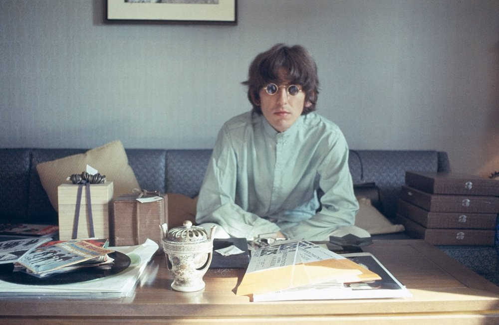 George Harrison in the Presidential Suite of the Tokyo Hilton, June 1966.