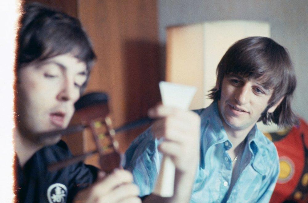 Paul McCartney and Ringo Starr in Japan, 1966.