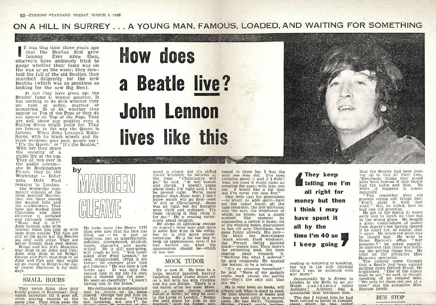 The London Evening Standard, March 4th 1966.