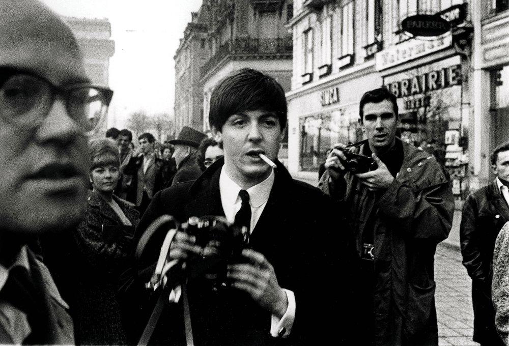 Paul McCartney in Paris, January 1964.