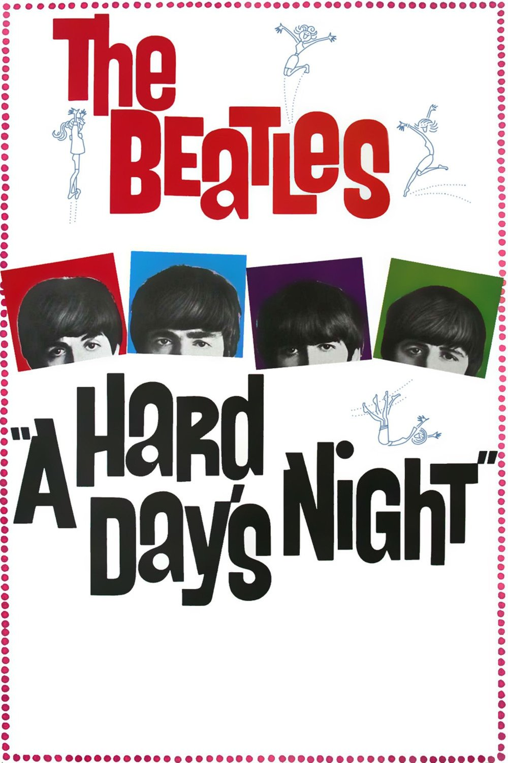A Hard Day's Night film poster.