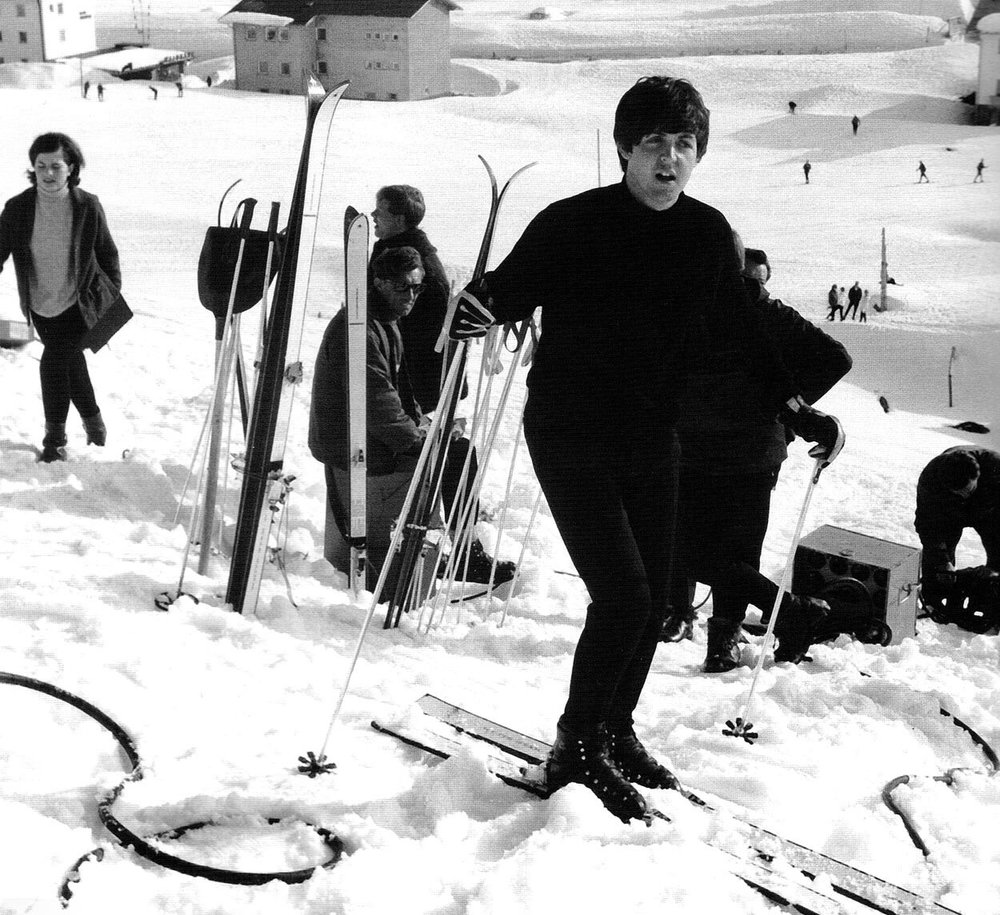 Paul McCartney filming Help! in Austria, 1965.
