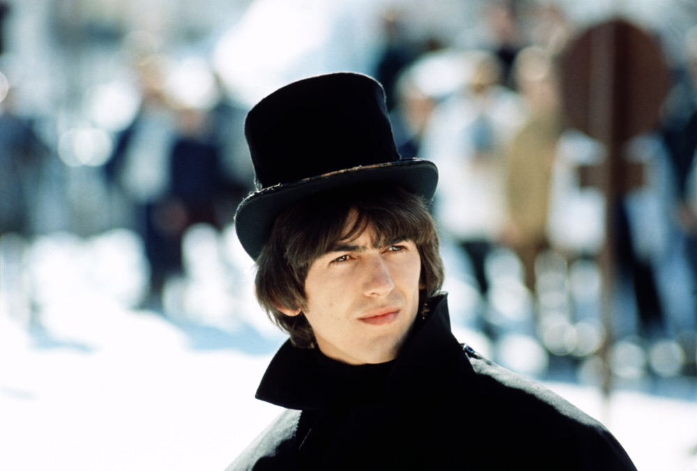 George Harrison filming Help! in Austria, 1965.