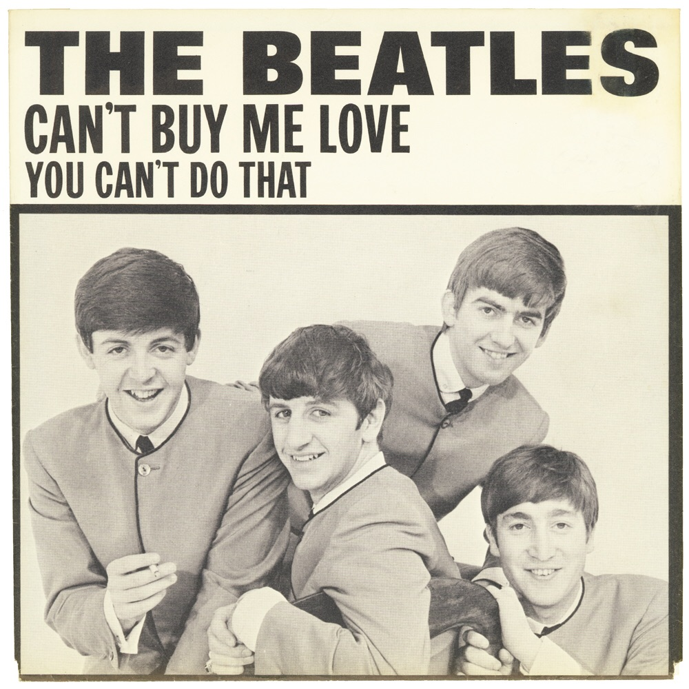Can't Buy Me Love/You Can't Do That single sleeve, 1964.