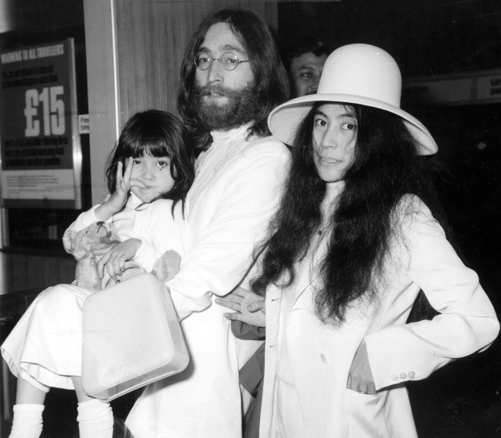 John, Yoko and Kyoko, March 20th 1969.