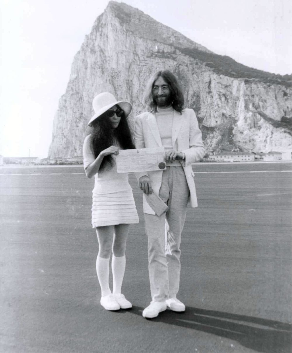 John Lennon and Yoko Ono, March 20th 1969.