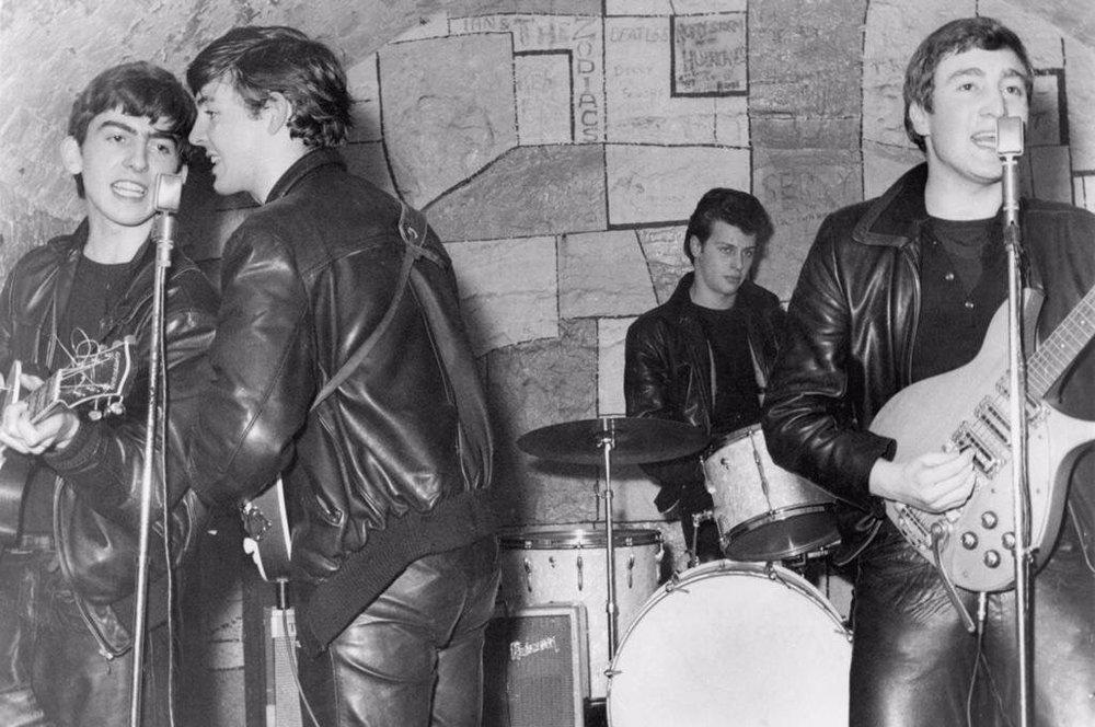The Beatles at the Cavern with Pete Best, 1961.