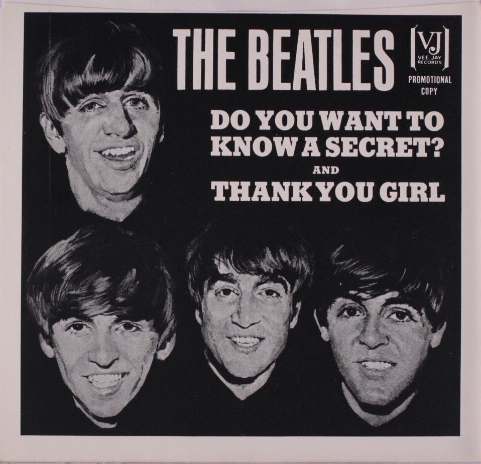 Do You Want to Know a Secret, single sleeve 1964.