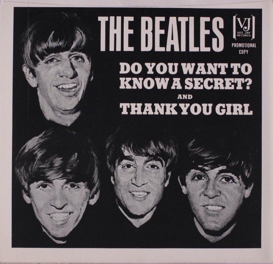 Do You Want to Know a Secret, single sleeve 1964.