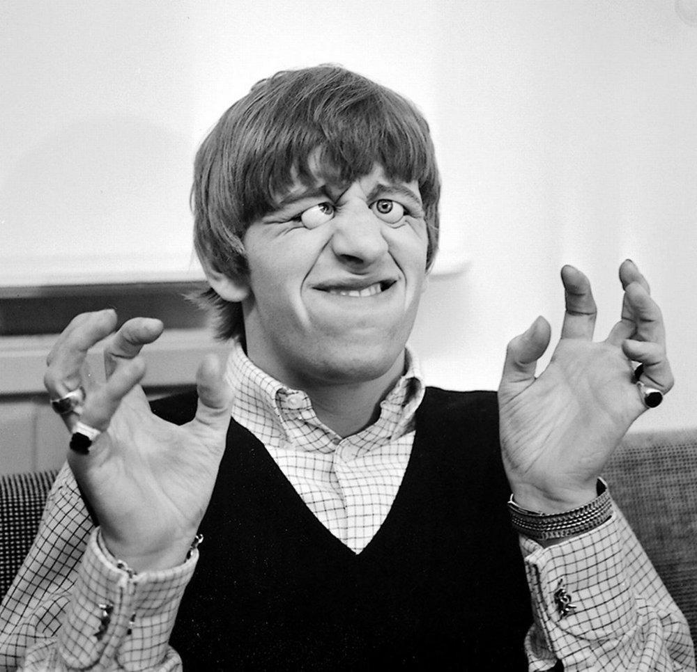 Ringo Starr at Madame Tussauds, London, April 1964.