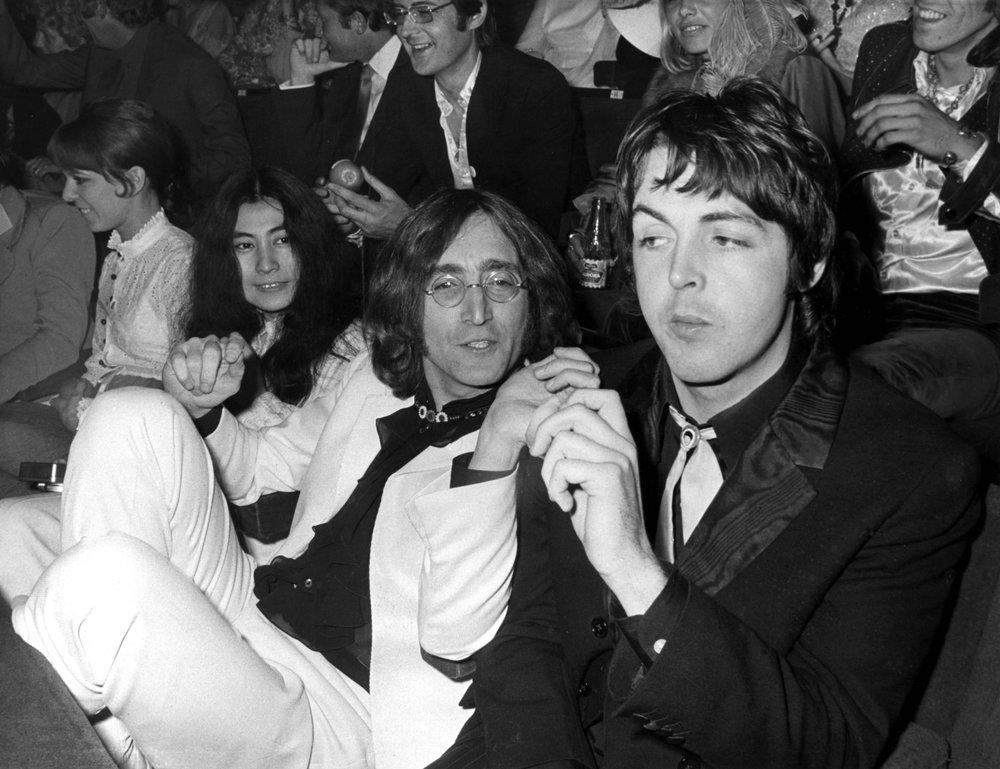 Yoko Ono, John Lennon and Paul McCartney at the premiere of Yellow Submarine, July 17th 1968.