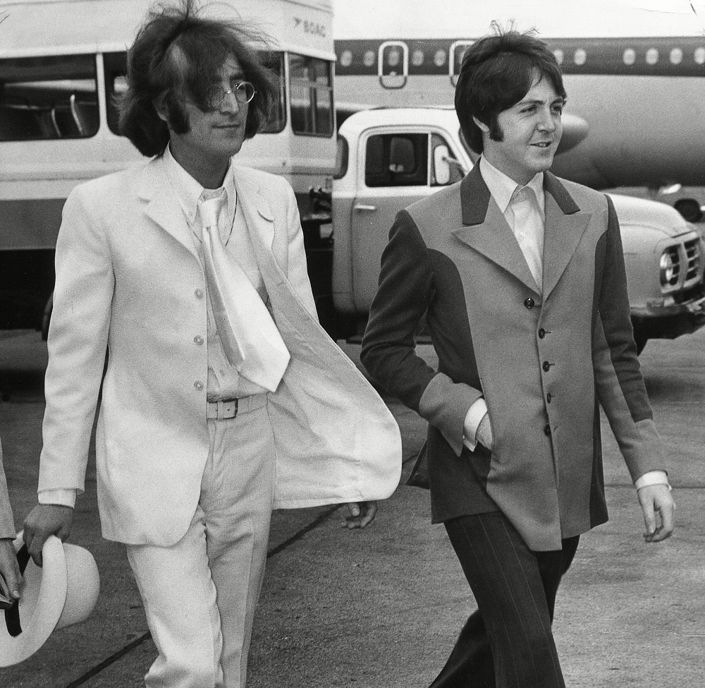 John Lennon and Paul McCartney, May 1968.