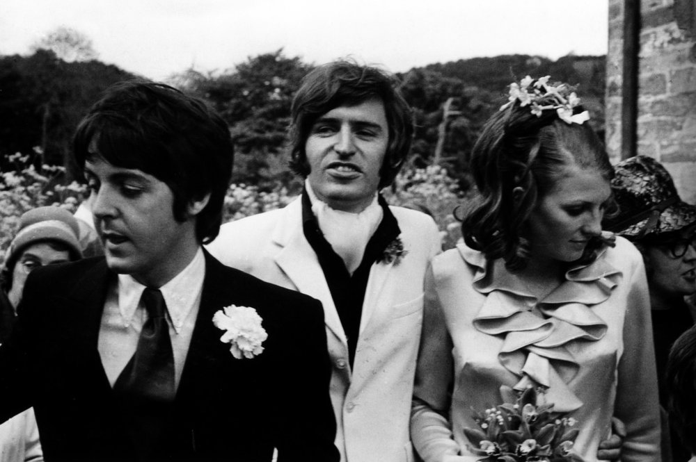 Paul and Mike McCartney with Angela Fishwick, June 8th 1968.