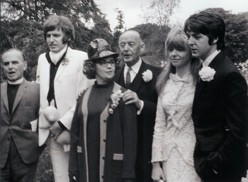 Paul, Mike and Jim McCartney with Jane Asher and Angela Fishwick, June 8th 1968