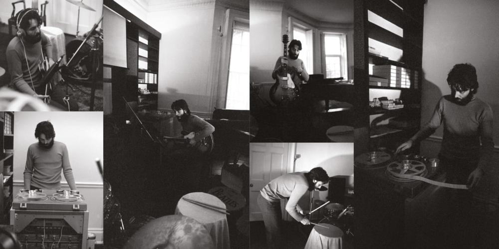 Pau McCartney recording his first solo album, circa 1970.