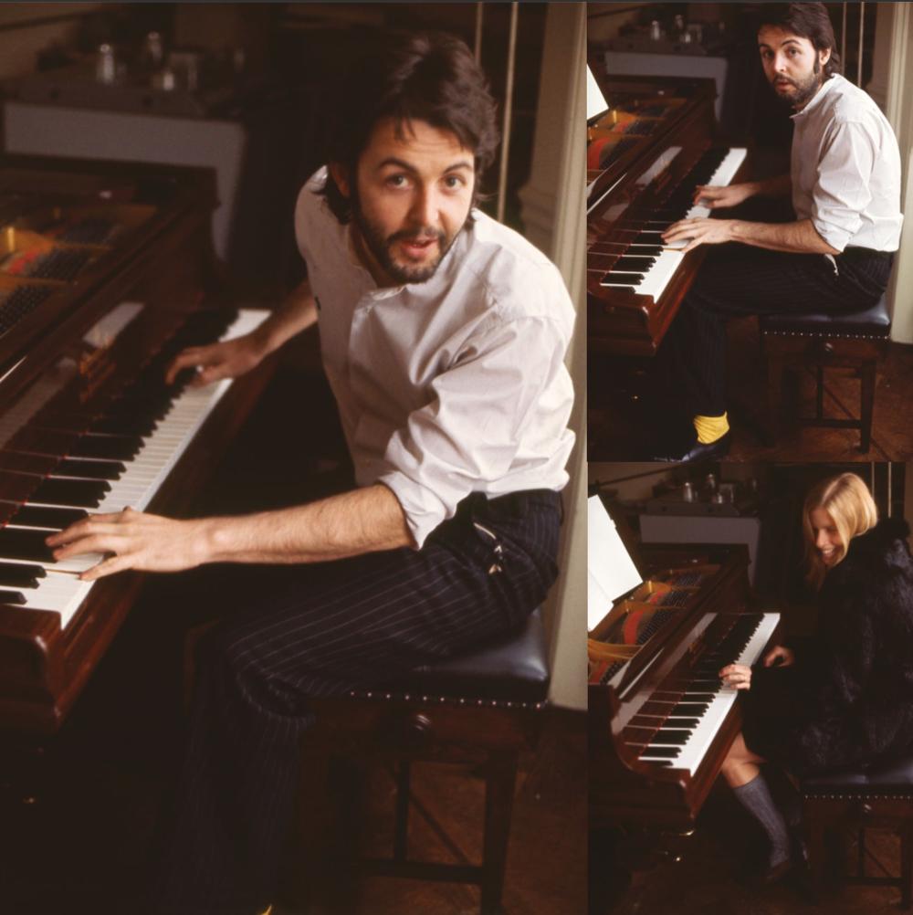 Paul and Linda McCartney circa 1970.