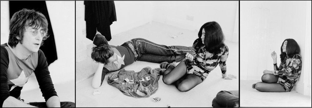 John and Yoko at Tittenhurst Park, 1971.