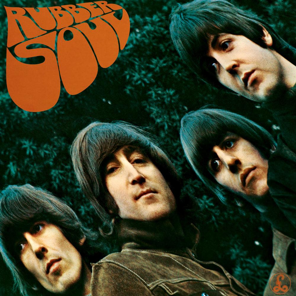 Rubber Soul album cover.