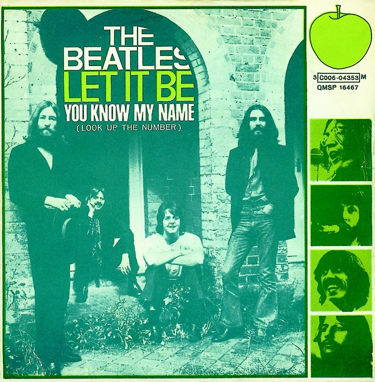 Let It Be/You Know My Name (Look Up The Number) single sleeve, 1970.
