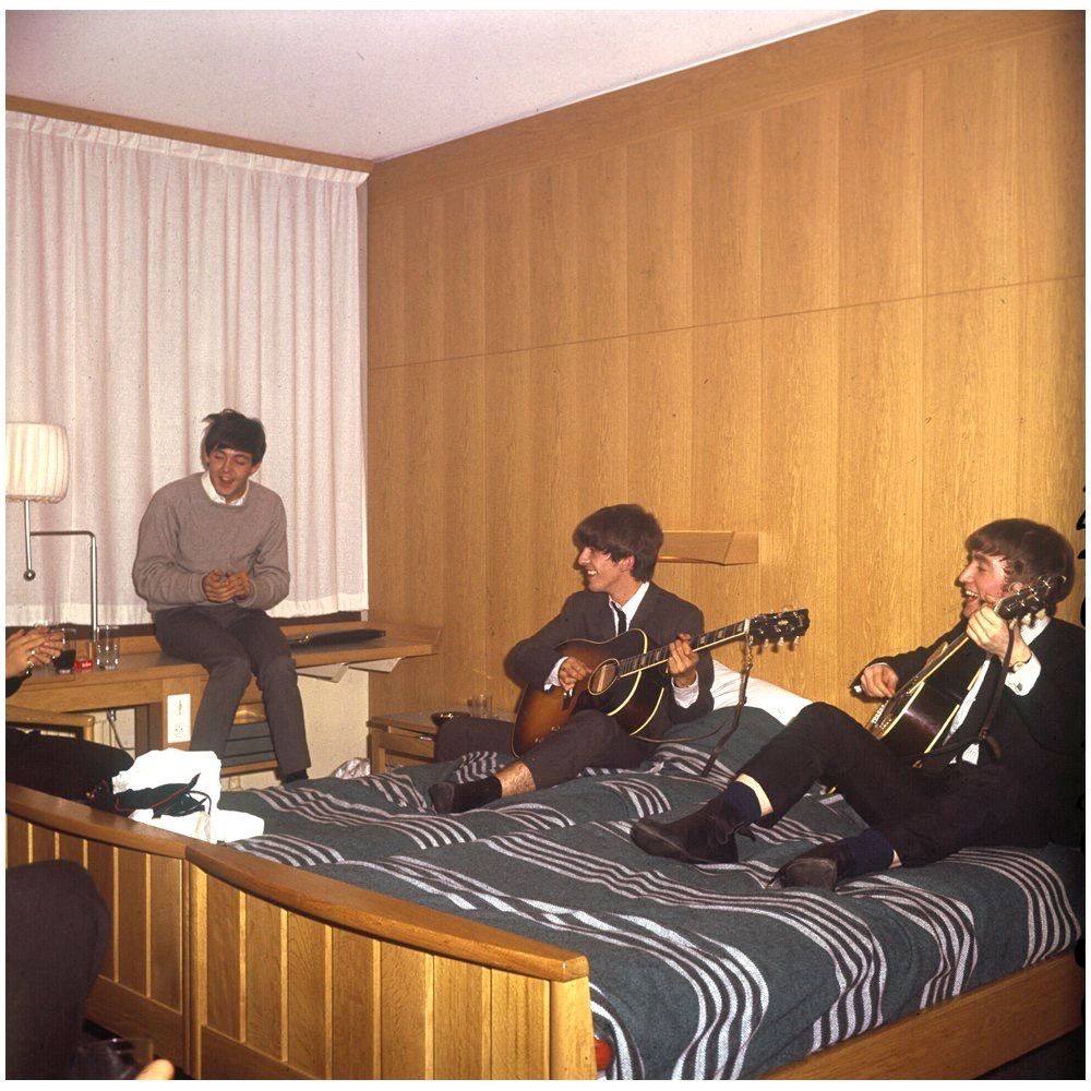 The Beatles at the Hotel Continental, October 24th 1963.