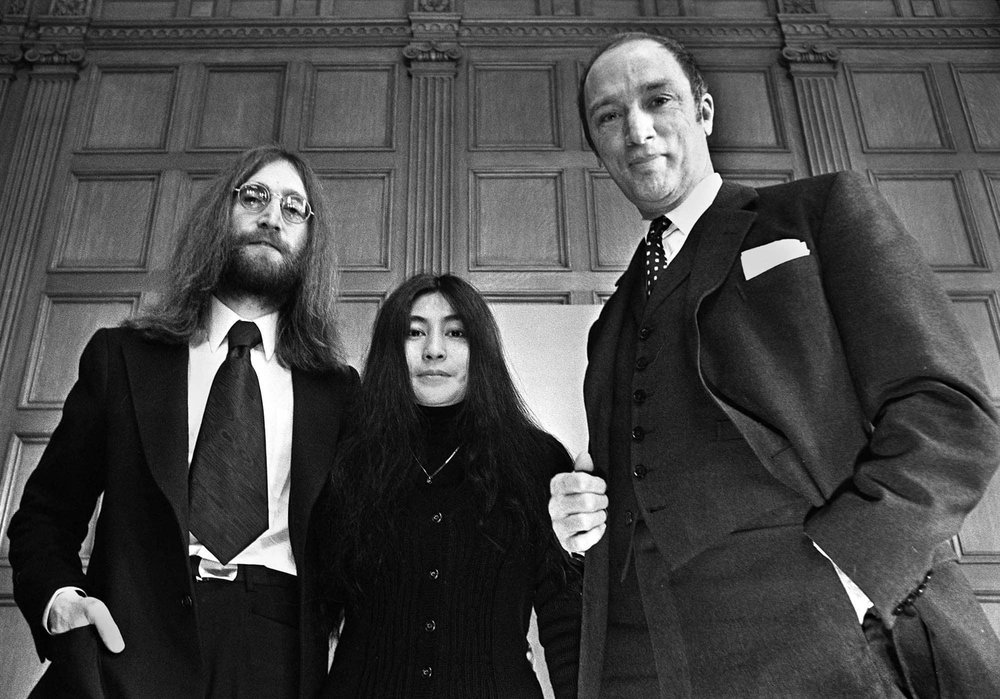 John and Yoko with Canadian prime minister Pierre Trudeau, 1969