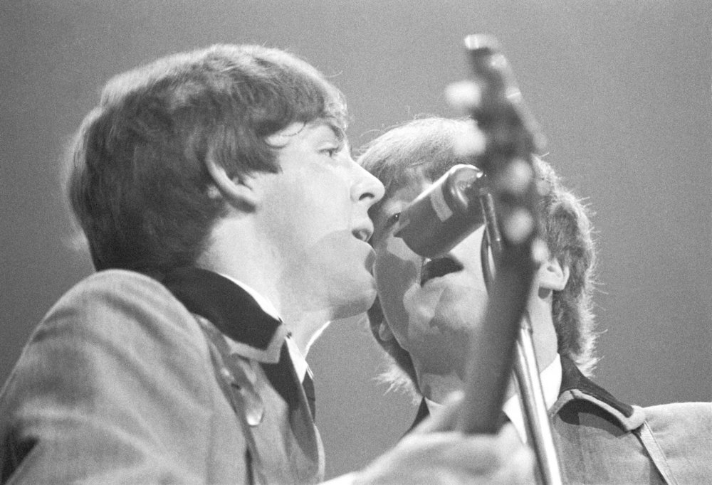 John Lennon and Paul McCartney at the Washington Coliseum, February 11th 1964.