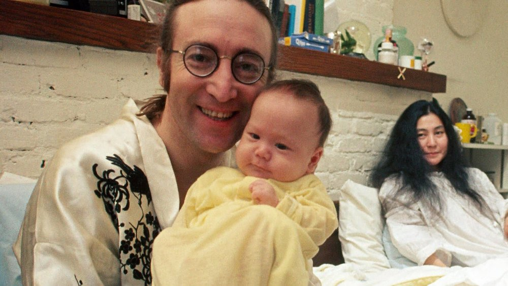 John Lennon with baby Sean, 1975.