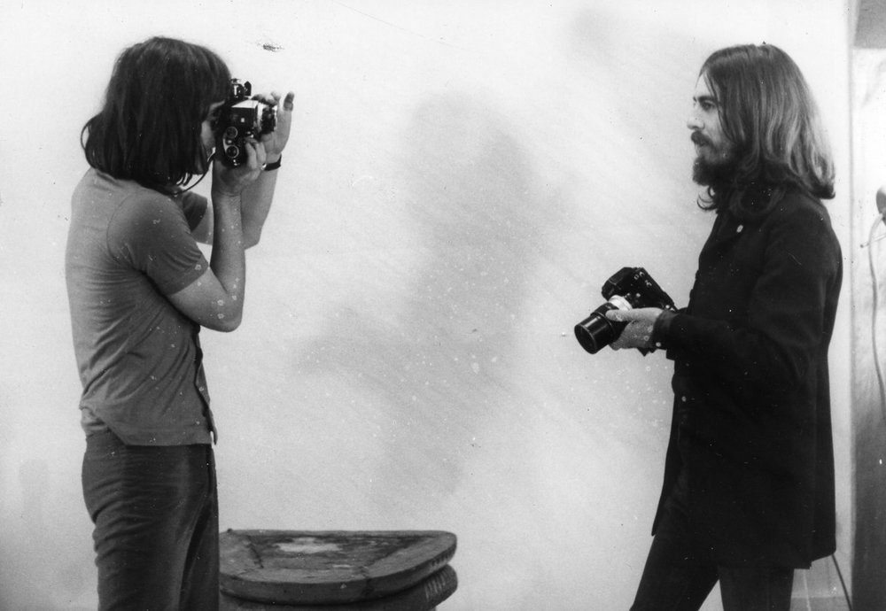 George Harrison with unknown photographer, 1969.