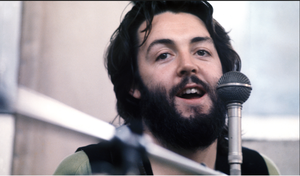 Paul McCartney recording Let It Be, 1969